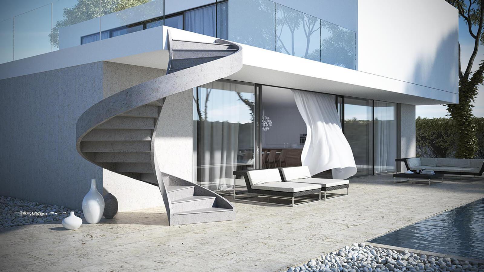 scale in cemento elicoidali uso esterno